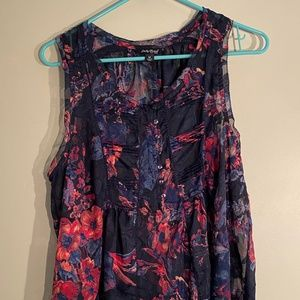 Lucky Brand Sheer Floral Tank